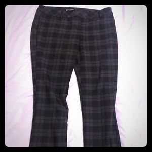 Express black and grey plaid dress pants